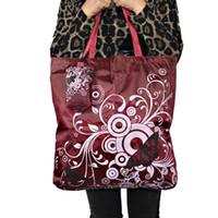 эко-квадратные сумки оптовых-Бабочка площади карманные сумки большой путешествия продуктовый Эко-складная ручка многоразовые портативный плечо полиэстер сумка