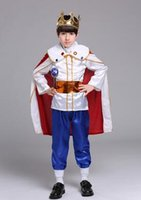 Wholesale costumes king prince for sale - Group buy 2018 new style children Cosplay The little king prince Boys and girls Dance Conjoined clothes short style