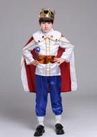 ingrosso figlio del costume del re-2018 nuovi bambini in stile Cosplay Il piccolo principe Ragazzi e ragazze Danza Abiti congiunti stile corto