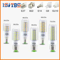 Wholesale Led E14 8w Corn - SMD5730 E27 GU10 B22 E14 G9 LED lamp 7W 12W 15W 18W 20W 220V 110V 360 angle SMD LED Bulb Led Corn light