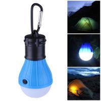 guardar suavemente al por mayor-3 modos Tienda de campaña portátil Luz suave de la noche Camping exterior Colgante SOS Linterna Bombilla Lámpara Ahorro de energía de emergencia a prueba de agua Envío gratis