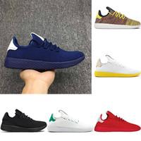 Wholesale x art black white online - 2018 Pharrell Williams x Stan Smith Tennis Men Women Running Shoes HU Primeknit White Green Blue Red Mesh Sports Sneaker size
