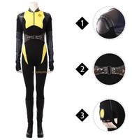 Wholesale female deadpool cosplay costume for sale - Deadpool Costume Negasonic Teenage Warhead Cosplay Costume Women Halloween Ellie Phimister Jumpsuit For Adult Custom Made