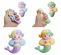 Wholesale rubber angels - Oriker Squishy Angel Mermaid 16cm Soft Sweet Slow Rising Mermaid Doll New Simulation Gift Decor Toy DDA220