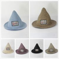 Wholesale big straw hats for women - Korean Summer Visor Beac Vacation Big Straw Hat Sunscreen Wizard Hat Outdoor Travel Beach Summer Hats For Women and Ladies