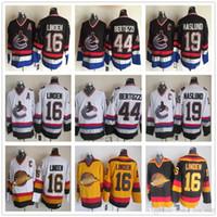 541b41772c5 Stitched 16 Trevor Linden Vancouver Canucks Jerseys 19 Markus Naslund 44  Todd Bertuzzi Black White Yellow Classic Vintage CCM Hockey Jerseys