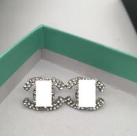 ingrosso orecchini di diamanti di alta qualità-Nuovi orecchini dell'alfabeto del diamante del progettista di alta qualità tutti i gioielli accessori del regalo dei monili delle signore