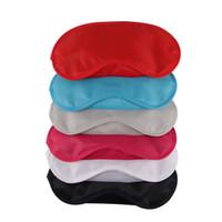 mascarilla profesional al por mayor-Nuevo Hot Eye Mask Shade Nap Cover Blindfold Travel Rest Cuidado de la salud profesional de la piel Tratamiento Sleep Variety Opciones de color
