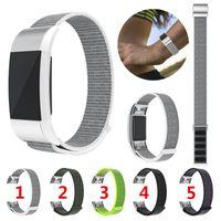 Wholesale fitbit bracelet charge online – Sport Loop Band Strap Bracelet Woven Nylon Loop Belt Watchband Quick Release Wrist Bracelet For Fitbit charge