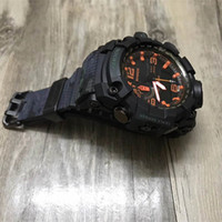 Wholesale compass watches military - 2018 New Arrival Fashion Mans Watches AAA Outdoor Compass Camping Military Sports Wristwatches for Men Men's LED Digital Analog Clock Saat
