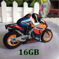 Wholesale stick 16 gb resale online - 16 GB USB Flash Memory Drive Stick Pen Storage Thumb U Disk Motorcycle Model