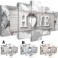 Wholesale mirrored panels for wall for sale - Wall Art Canvas Painting for Home Decoration No Frame Extra Mirror Border Love Home Abstract Decor