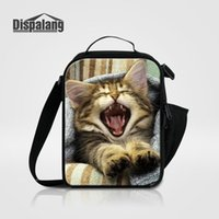 Polyester thermal insulated cooler bags - Thermal Lunch Bag For Children Women Adults Food Lunch Picnic Cooler Bags Cute Animal Cat Playing Insulated Lunch Bags For Students School