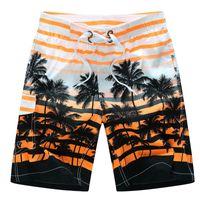 shorts de bain achat en gros de-Conseil Shorts Hommes Casual Imprimer Mens Hawaiian Bermudes Boardshorts Beach Marque Vêtements Court Homme Grand Plus La Taille 5xl 6xl 2017