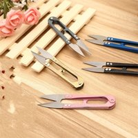 Wholesale outdoor trimmers - J01 Stainless Steel U Type Trimming Scissors Home Yarn Cross Stitch Shears Small Scissor Outdoor Portable Forfex 0 39gs ii