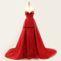 Wholesale jersey knit evening gowns - Two Pieces Mermaid Evening Dress Lace Up Back Sweetheart Prom Flower Pattern Shinning Glitter New Long Party Gown 947L