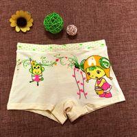 Wholesale Girl Boxers Shorts - Pure cotton modal children's underwear girl child boxer shorts girl corners of cuhk children's cotton