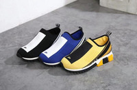 Wholesale medium jersey - AAAAA 2018 Spring 3012 Stretch Jersey Sorrento Sneaker with Logo for Men&Women,Two-Tone Micro Sole,Slip-on,Size 35-44 Free Shipping