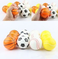 Wholesale Basketball Big Kids - Soccer Football Squishy Slow Rising Cream Scented relieves stress Kid Toys Basketball Slow Rising Squishy KKA4406