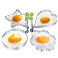 talladora de huevos fritos al por mayor-1 unids Molde de Panqueque de Acero Inoxidable Huevo Frito Talladora Molde de Huevo Tortilla de Cocina Herramientas de Cocina Gadgets Forma Aleatoria