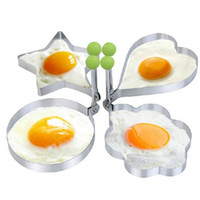 Wholesale fried egg rings - 1pcs Stainless Steel Pancake Mold Fried Egg Shaper Egg Mold Omelette Cooking Tools Kitchen Gadgets Random Shape