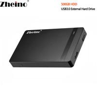 dizüstü bilgisayar sabit disk masaüstü toptan satış-Yeni 2.5 inç USB3.0 500 GB Harici HDD 16 MB Önbellek Taşınabilir Sabit Disk Sürücüsü ile Masaüstü Laptop için USB Tip A-Mikro B veri kablosu