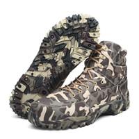 обувь для камуфляжа оптовых-Мужчины Военные Тактические Сапоги Армия Боевой Открытый Пешие Прогулки Обувь Пустыня Туризм Отдых Повседневная Обувь Камуфляж Охота Походы Лодыжки Лодки