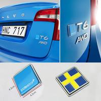 emblèmes volvo achat en gros de-Pour Volvo XC90 S90 S60L V40 V60 S80 XC60 Blue Star Badge Arrière Tronc Arrière Drapeau De La Suède Emblème Autocollant Sticker Polestar Tail Badge
