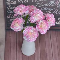 Wholesale wedding bouquet silk carnations - Artificial Flower Carnation Spun Silk Flowers Mother Day Gift Home Furnish Decoration Teacher Days Gift Bride Bouquet Wedding 1 1TH gg