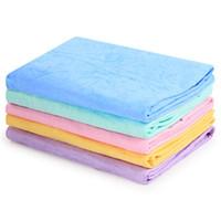 havlu havlu toptan satış-PVA Fonksiyonel Havlu Sentetik Emici Geyik Derisi Bez Havlu Ev Islak Saç Banyo Temizlik Araba Yıkama için (Rastgele Renk)