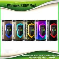 Wholesale Metal Warriors - Original Sigelei Laisimo Warriors 230W Box Mod VW TC Dual 18650 Or 20700 Battery Ecig Vape Mods 100% Authentic
