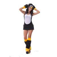 ingrosso costumi di pelliccia del fumetto-Faux Fur Sexy Dark Carnival Cartoon Cosplay Inverno Pinguino Costume Halloween Tema Costume di Natale Pinguino Abiti uniformi