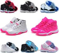 ingrosso palle blu-2018 11s 11 nuovi Concords 72-10 Legend Blue Cool Grey scarpe da basket da donna a buon mercato Space Jam Bred Gamma Blue sneakers da basket