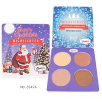 Wholesale classic control - The Classic Queen 4 Shades Highlighter Makeup Bronzer Eyeshadow Palettes Pressd Powder Coutour Palette maquillage Kit