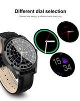 metal akıllı saatler toptan satış-DT19 Renk Ekran Akıllı İzle Erkekler Metal Kol Dial Arama Kalp Hızı Kan Basıncı spor Spor izci SmartWatch
