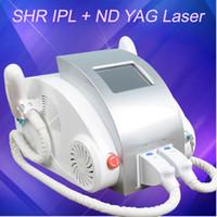 Wholesale laser hair machine q online - 3IN1 ND Yag Q switch laser tattoo removal machine ipl shr elight hair removal skin rejuvenation nd yag laser machine