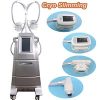 Wholesale ce options - Two Handles Work Same Time Cryolipolysis Fat Freezing Machine Cool Sculpting Cryolipolysis Body Slimming Machine With 4 Size For Option