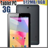 Wholesale 7 phablet resale online - DHL quot inch G phablet Phone Call Tablet PC MTK6572 Dual Core Android Bluetooth Wifi MB GB Dual Camera SIM Card GPS B PB