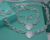 braceletes de diamantes venda por atacado-(Pulseiras + Colares) Diamantes pelo Quintal Pingente Open Horizontal Bar Pingente de prata 925 Colares Pulseiras Anéis Brincos Encantos Jóias