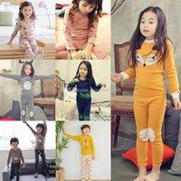 fox tier pyjamas groihandel-2018 neue baby pyjamas outfits baumwolle jungen mädchen Tier fuchs druck top + pants 2 teile / satz cartoon kinder Kleidung Sets 31 arten C3372
