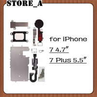 Wholesale For iPhone Plus LCD Repair Parts Metal Plate Kit Front Camera Screws Earpiece Home Button Repair Parts Set DHL Shipping Store_A