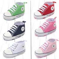 Wholesale Classic canvas baby shoes Months Spring toddler children s shoes First walker Sport Soft Bottom Baby anti slip