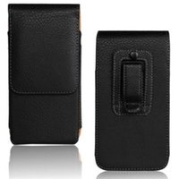 Wholesale xperia z5 resale online - Universal Belt Clip PU Leather Waist Holder Flip Pouch Case for Sony Xperia Z3 M5 Z5