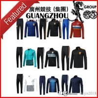 Wholesale Italy Trains - 2018 NETHERLANDS GERMANY FRANCE ARGENTINA BELGIUM SPAIN COLOMBIA RUSSIA ITALY JACKET SOCCER TRACKSUIT SWEATER TRAINING SHIRT SUIT PANT TOP