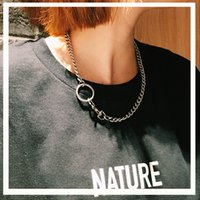 Wholesale jewellery chunky necklaces wholesale - Link Chain Stainless Steel Collier Short Women Statement Necklace Collar Jewelry Chunky Choker Necklace Charm Collar jewellery