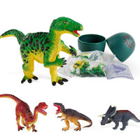 Wholesale china baby model online - Mini Dinosaur Egg Animal Baby PVC Model Toy Made In China Kids Dinosaur Model Toy Style