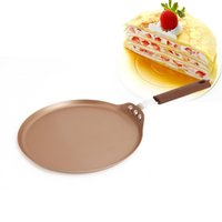 Wholesale iron fry pans - New hot sale circular Non-stick Frying Pan 6 inch Breakfast Fried Eggs Baking Cookware household skillet T3I0155
