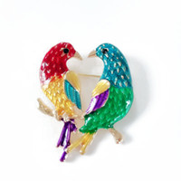 Wholesale selling brooches for sale - Group buy Mixed Color Enamel Fashion Sweet Cute Simple Party Holiday Bird Popular Hot Selling Brooches