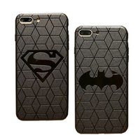 Wholesale 3d batman case cover for sale – best 3D Touch Case For IPhone X Plus Soft Silicone Relief Pattern Phone Case For IPhone Plus Back Cover Superman Batman