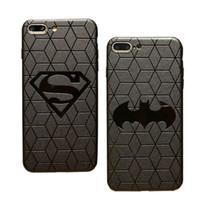 ingrosso i casi di telefono del batman iphone-Custodia 3D Touch per IPhone X 8 Plus Custodia morbida in silicone per iPhone 6 6 Cover posteriore Superman Batman